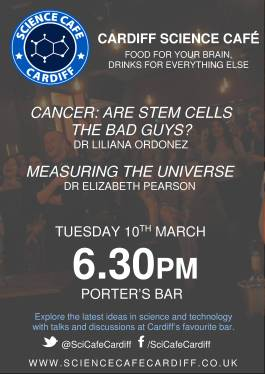 Science Cafe Poster March